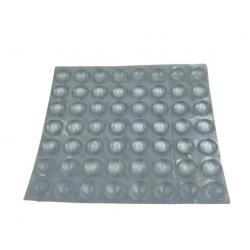 Grzybek gumowy przeźroczysty samoprzylepny,  Ø 11 x 5 mm