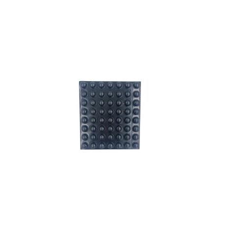 Grzybek gumowy ,czarny samoprzylepny. Ø 8 x 2,8 mm