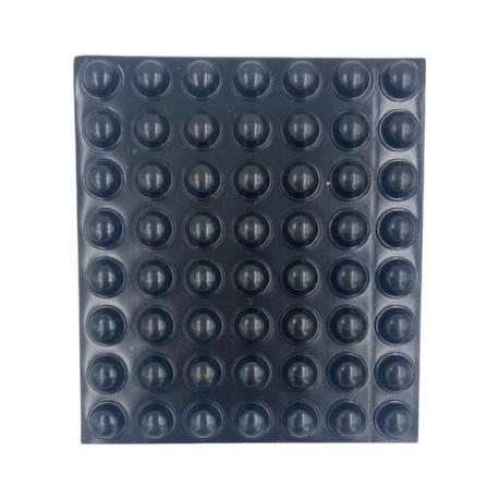 Grzybek gumowy, czarny, samoprzylepny  Ø 10 x 5 mm