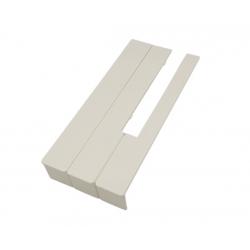 Nakładki klawiaturowe  creme mat 50 mm 52 szt.